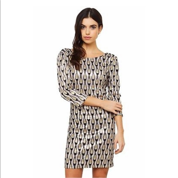 bac8e9086132 AKIRA Dresses | Chicago Black Label Gold Sequin Dress | Poshmark
